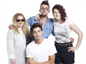 Diana, Dean and Parisa with model Sterling from LA Models at Milk Studios 2