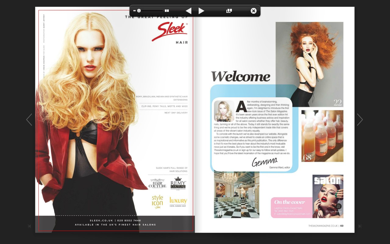 New look salon magazine for A new look salon