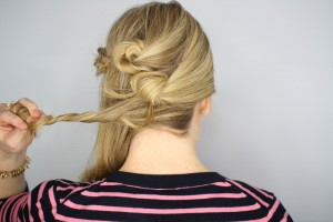 Easy Knotted Updo Step 13