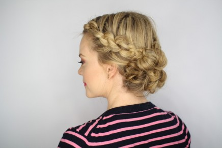 The Easiest Knotted Updo
