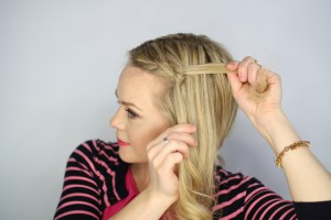 Easy Knotted Updo Step 6