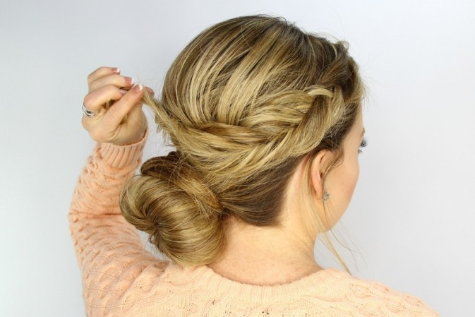 Photo Hair Tutorial – Fishtail Wrapped Bun