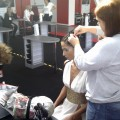 Hair braiding at Olympia Beauty Show