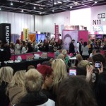 Fans try to catch a glimpse of Amy Childs