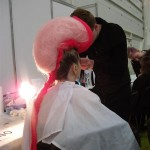 Pink model for Makeup competion