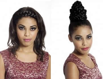 models wearing Flexi Braid from Real Hair by Clara