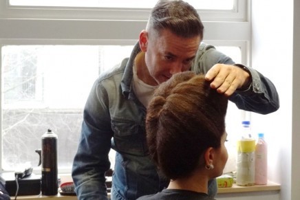 Gary Baker gives students Hair Masterclass