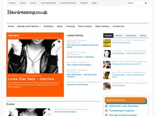 screenshot of hairdressing.uk