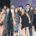 Hair Salon of the Year United Salons come up to receiving their award from Lee Stafford