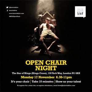 Open Chair Night Poster