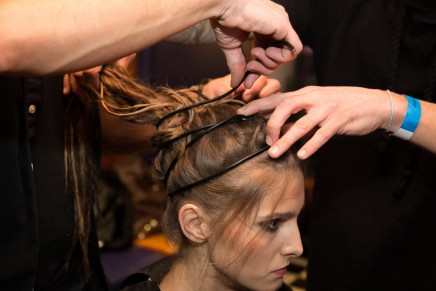 'Survivor hair' at Gyunel LFW show