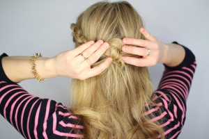 Easy Knotted Updo Step 10