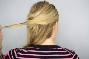 Easy Knotted Updo Step 11