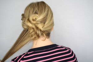 Easy Knotted Updo Step 15