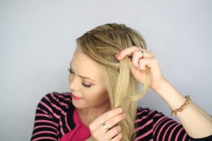 Easy Knotted Updo Tutorial Step 3