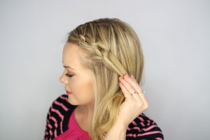 Easy Knotted Updo Step 7