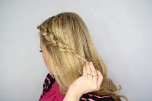 Easy Knotted Updo Step 8