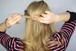 Easy Knotted Updo Step 9