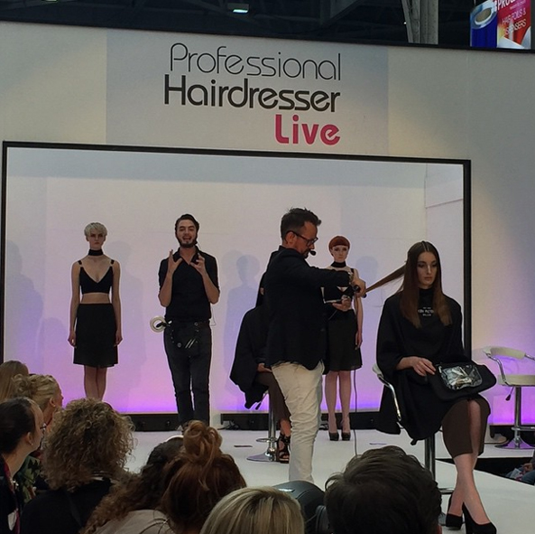 at the the Pro Hair Live stage