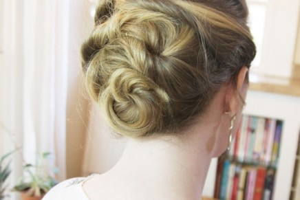 Create a Woven Updo in 3 Minutes