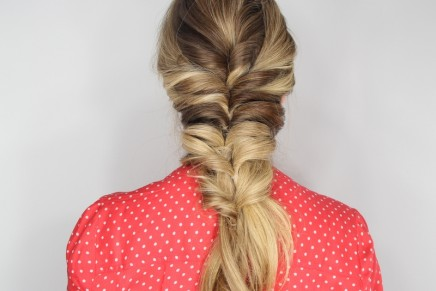 The Stacked Topsy Tail Braid Hair Tutorial