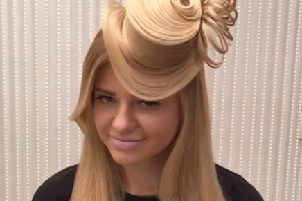 Instagram sensation – turn your hair into a HAT