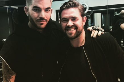 Jonathan Andrew styles Adam Lambert on recent UK visit