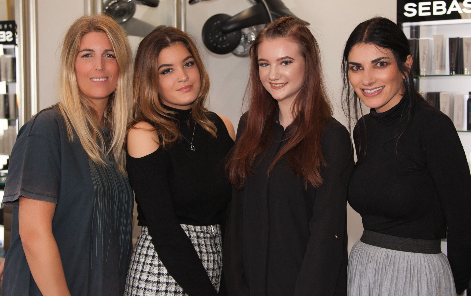 left to right - Laura Duce, Bianca Southall, Sophie Knowles and Annabell Romao