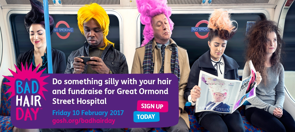 Do something silly with your hair this Bad Hair Day