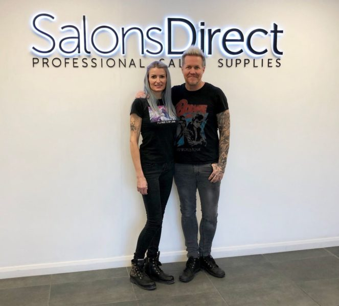David and Alexis Thurston founders of Pulp Riot at Salons Direct HQ