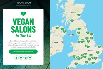Unique Vegan Salon Map Of The UK