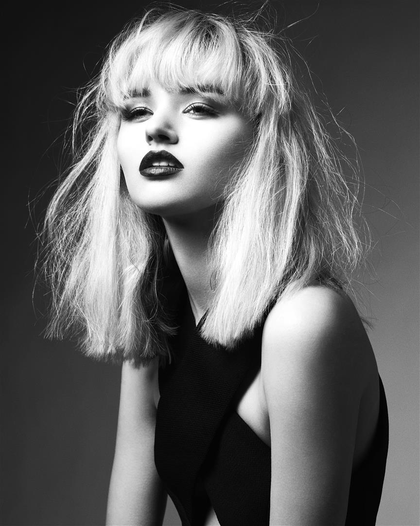mid length shag with a soft textured fringe
